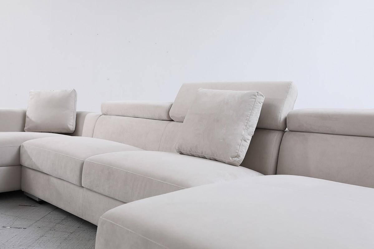 vig divani casa forte sectional sofa in gray microfiber