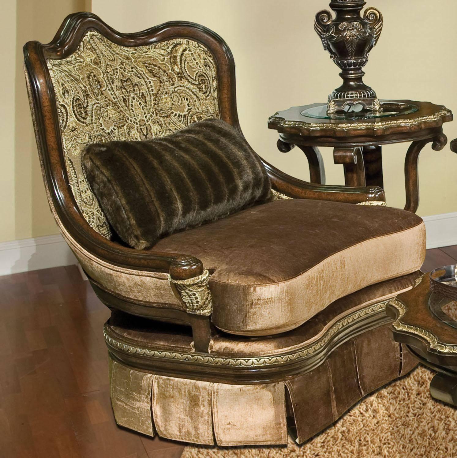 Buy Benetti S Bertina Swivel Accent Chair In Reddish Brown Golden Beige Fabric Online
