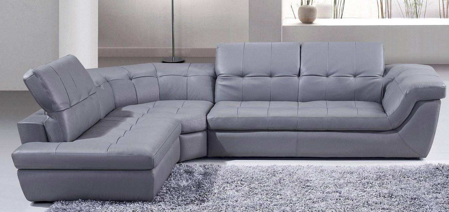 j m 397 sectional sofa left hand chase in gray leather