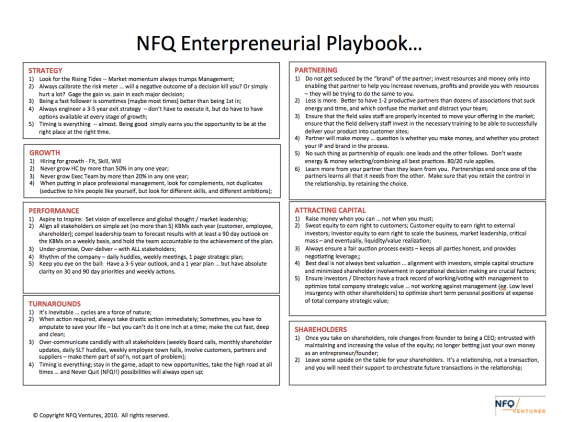 NFQ Playbook