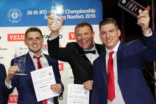 Presidents Prize Winners - Flat Roofing Team GB Duo and Mentor