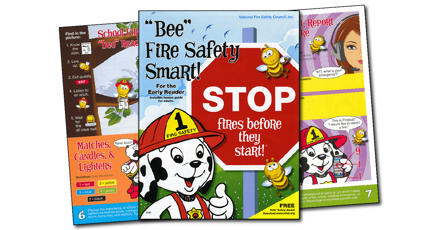 210f Bee Fire Safety Smart Activity Book