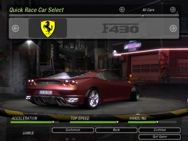 Need For Speed Underground 2 Ferrari F430 Coupe NFSCars