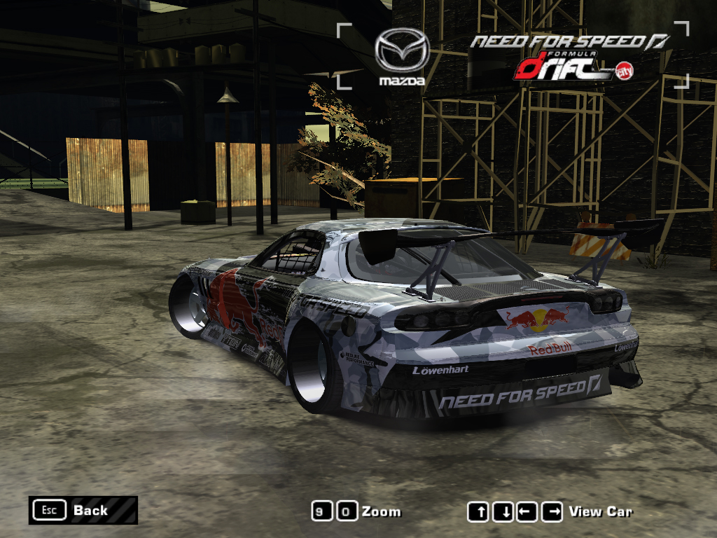 Need For Speed Most Wanted Mazda MADMIKE Redbull Rx7 NFSCars