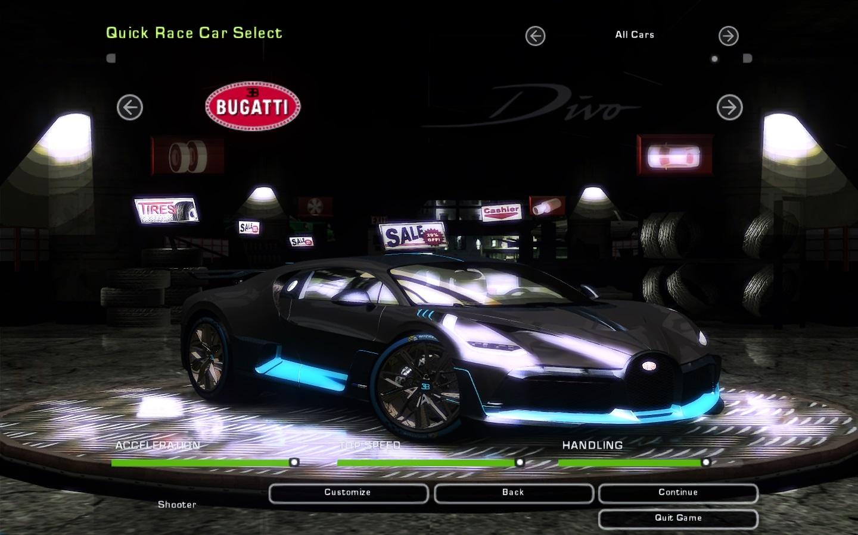 Need For Speed Underground 2 Bugatti Divo Nfscars
