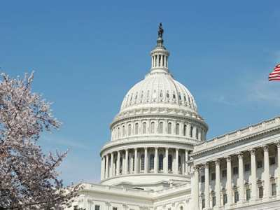nyfi-news - The Dome of the Capitol Building in Washington DC with Flag Flying High