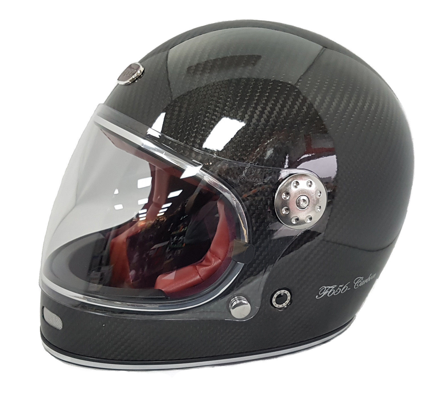 Carbon Fiber Motorcycle Helmets >> Viper F656 Carbon Fibre Retro Full Face Motorcycle Helmet