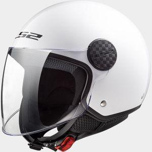 LS2 OF558 Sphere White Jet Open Face Helmet