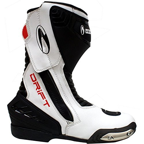 Richa Drift White Waterproof Touring Sports Race Motorcycle Boots
