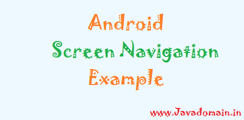 Android_Screen_navigation