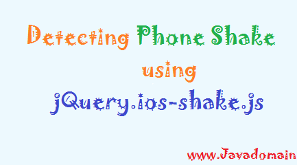 Detect phone shake using jQuery