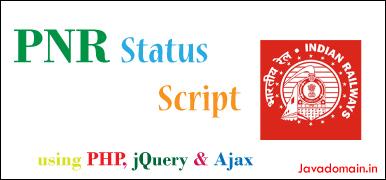 PNR Status Script using PHP, jQuery and Ajax - NgDeveloper