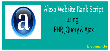 alexa website rank script using php, jquery & ajax