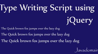 type writing script using jQuery