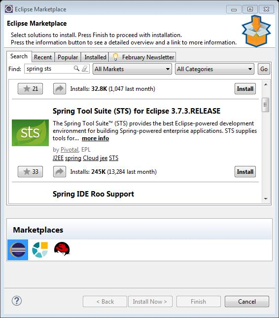 Installing spring tool suite in eclipse