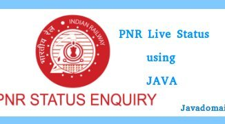 PNR Live Status Java Code
