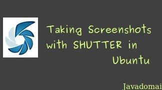 Taking screenshots with shutter in ubuntu