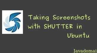 Taking screenshots with shutter in ubuntu