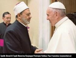 Imam Besar Al Azhar-Paus Fransiskus Sepakat Perangi Terorisme