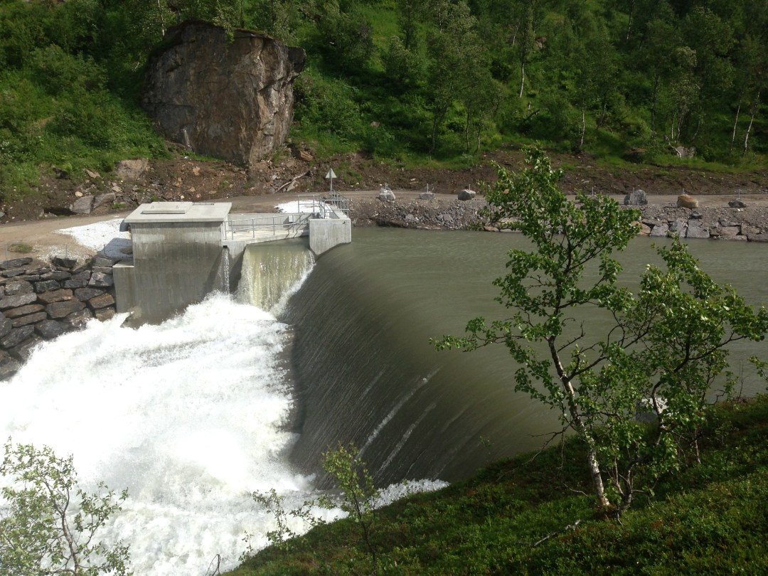Dam_Leirelva kraftverk