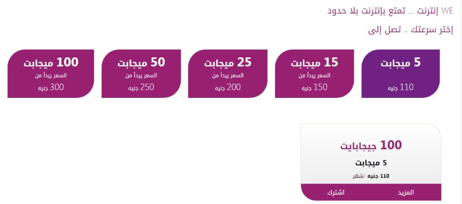 أسعار باقات المصرية للاتصالات للإنترنت والمحمول والخط الأرضي