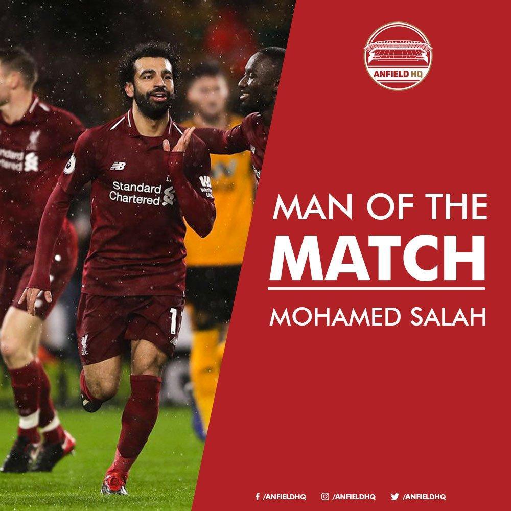 محمد صلاح يحصد جائزة أفضل لاعب فى المباراة بعد فوز ليفربول