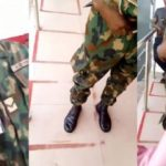 Nigerian Soldier In Trouble For Flogging Lady At ATM Stand (Video)