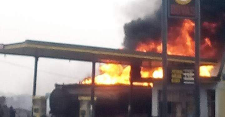 Fire Guts Bovas Fuel Station In Iseyin