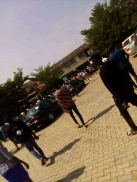 PHOTO NEWS: Dual Award Students Goes On Rampage As Ede Poly Management Cancelled Program