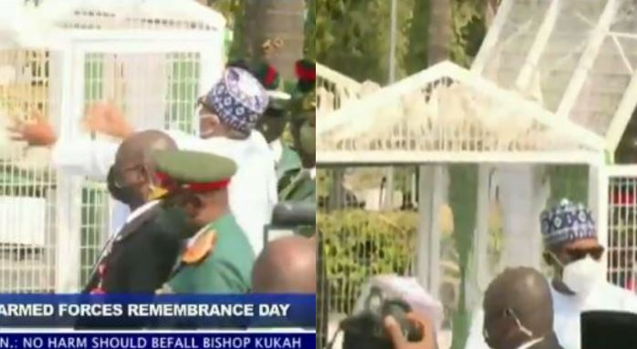 Pigeons Released By Buhari Refuse To Fly At Armed Forces Remembrance Video