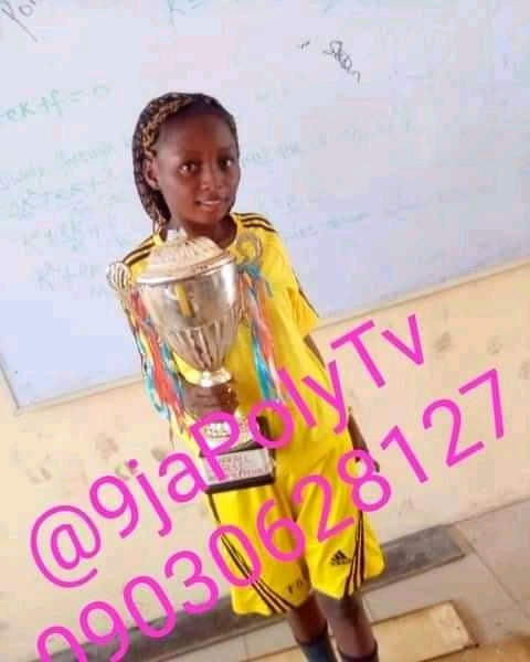 Ede Poly Female student with Dean's Cup