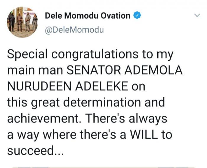Ademola Adeleke Education