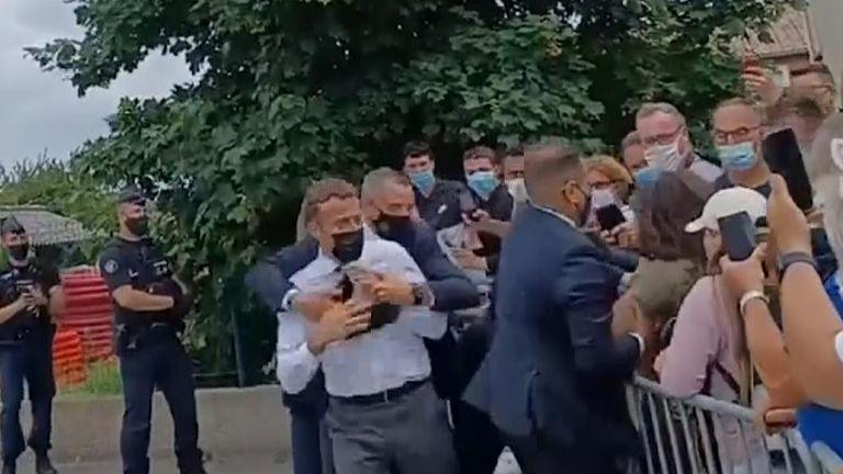 Macron French president slap