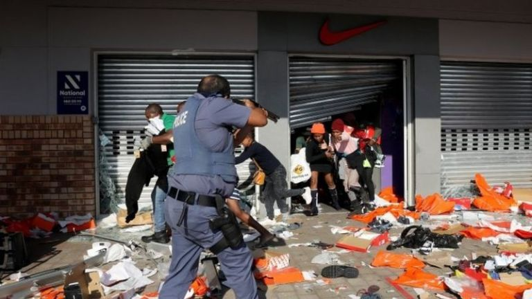 Looting in south africa today