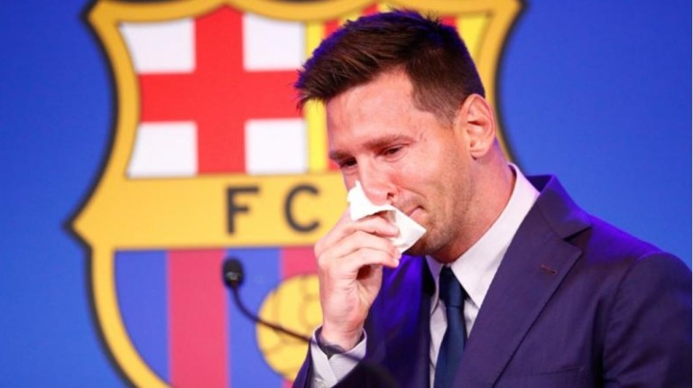 Messi in tears as he confirms depature from Barcelona after years