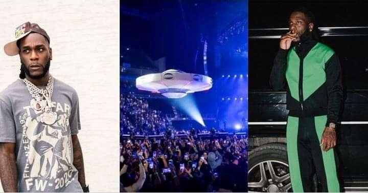 BurnaBoy 02 Arena London spaceship