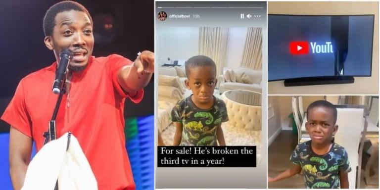 Comedian Bovi put son for sale