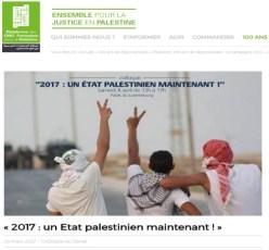 Screenshot, https://www.plateforme-palestine.org/2017-un-Etat-palestinien-maintenant