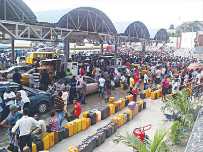 Image result for nigeria filling station queue