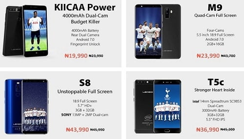 Leagoo smartphones mobile week on Jumia