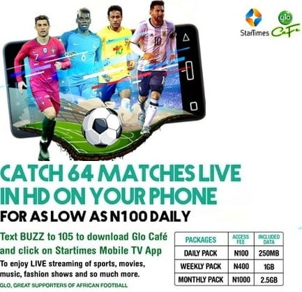 Startimes Glo World Cup 2018