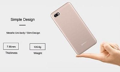 Gionee F205 smartphone design