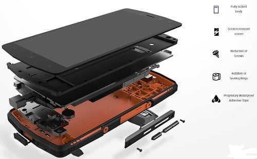 Leagoo xrover smartphone body build