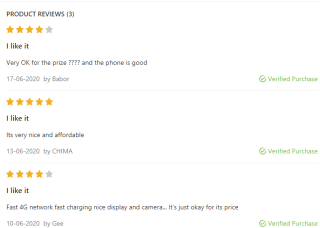 Jumia buyers review of Olla smartphone
