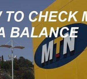 How to check MTN data balance