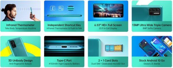 Umidigi A7s Key features