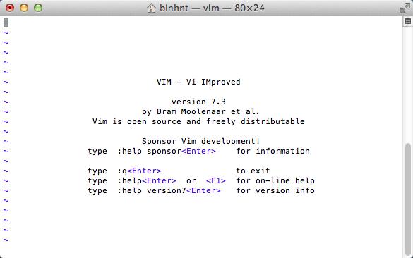 Trình soạn thảo vi trên Mac OS X