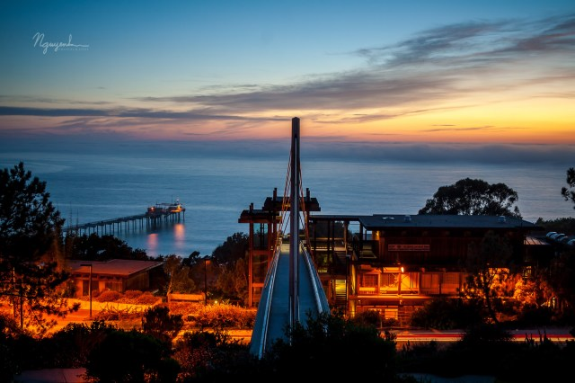 sunset over Scripps Institution of Oceanography