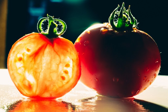 tomato, inside-out