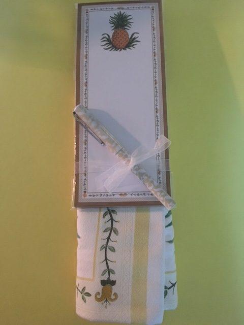 Notepad, Pen and Towel Set